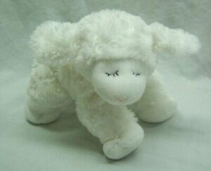 Baby-Gund-CUTE-SOFT-WHITE-WINKY-LAMB-RATTLE-8-034-Plush-STUFFED-ANIMAL-TOY