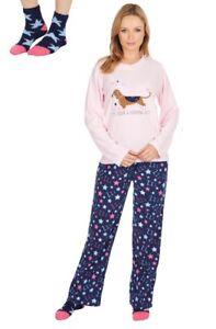 Lot et Gorgeous foncᄄᆭ Day lit Been de pyjama Ladies bleu Long chaussettes rose A en de QotdCshxBr