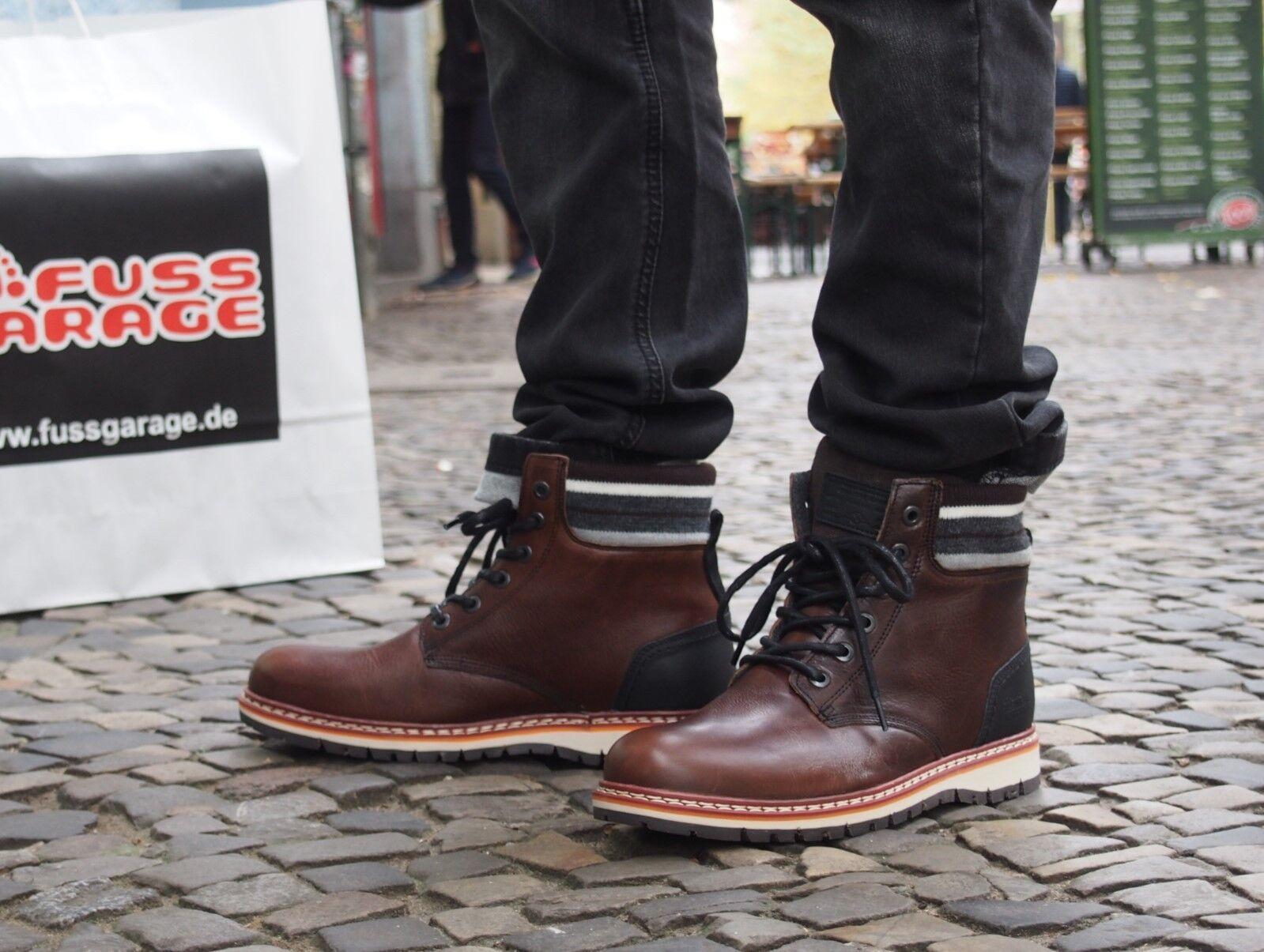 Bullboxer Schuh 12 braun Brown Herrenschuhe Boots Echtleder Winterschuhe NEU !