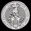 Queens-Beasts-The-Yale-of-Beaufort-2019-2-oz-999-Silber-5-Pfund-Silbermunze miniature 1