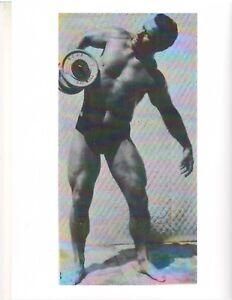 bodybuilder JOHN GRIMEK Early 1950s DUMBBELL WORKOUT Bodybuilding