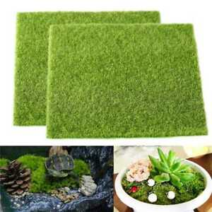 k nstlicher rasengras rasen f r miniaturlandschaft artificial turf grass qe43 ebay. Black Bedroom Furniture Sets. Home Design Ideas