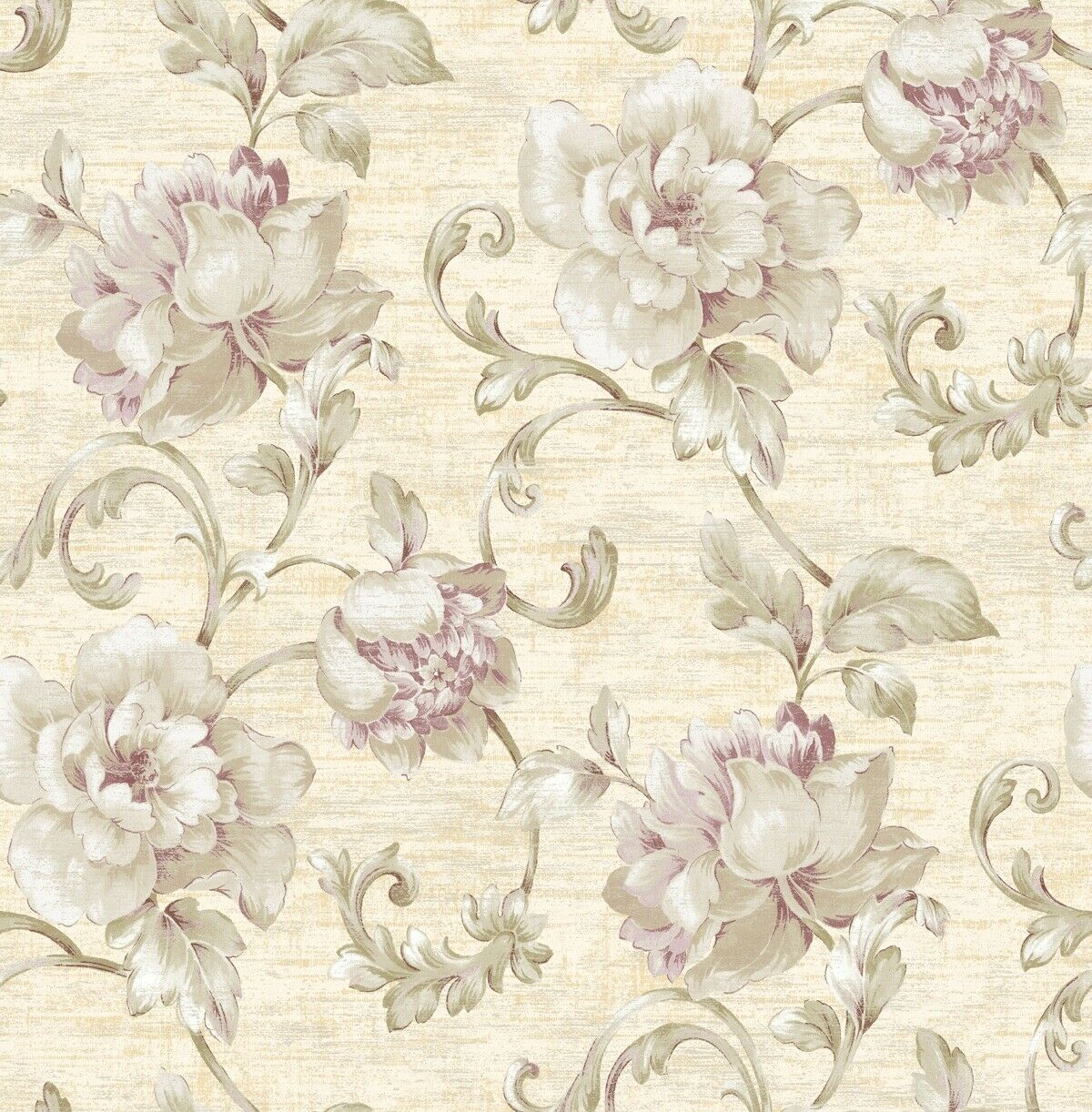 Muriva Eve Floral Gunmetal Metallic Wallpaper 701473 For Sale
