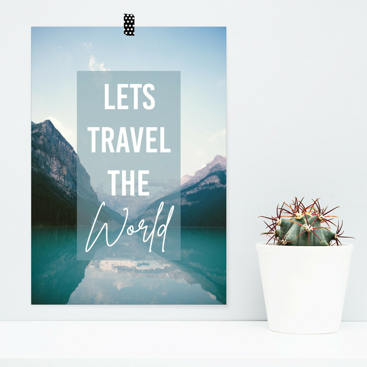 JUNIWORDS Poster  Lets travel the world.  Zitat Spruch Geschenk DIN A4 A3 A2