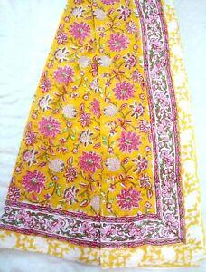 Indian-Cotton-Sarong-Bikini-Pario-Cotton-Cover-up-Sheer-Duptta-Hand-Block-Print