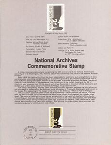 8414-20c-National-Archives-Stamp-Scott-2081-USPS-Souvenir-Page