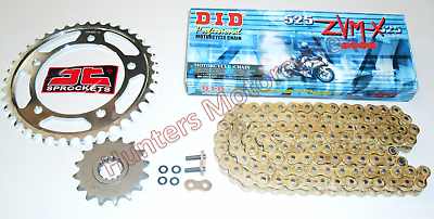 BMW S1000RR DID ZVMX Gold X-Ring Super Heavy Duty Chain /& JT Sprockets Kit