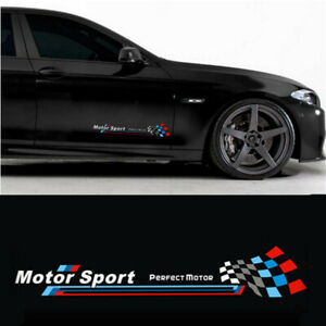 A Set Car Body Side PVC Sticker Racing Decals For Black Flame MOTOR SPORT Decals
