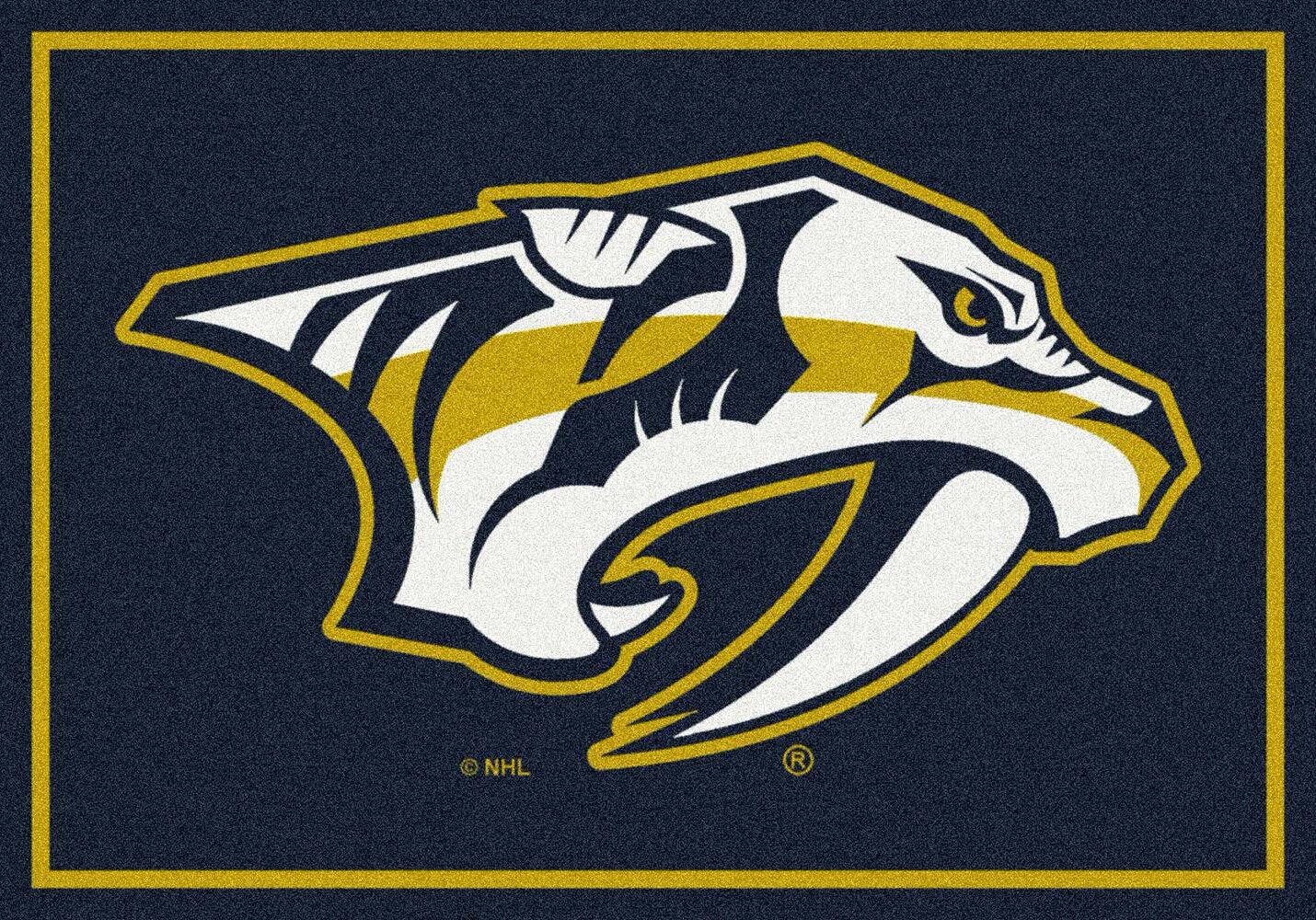 2x4 Milliken Nashville Prossoators Sports NHL Spirit Area Rug - Approx 2'8 x3'10