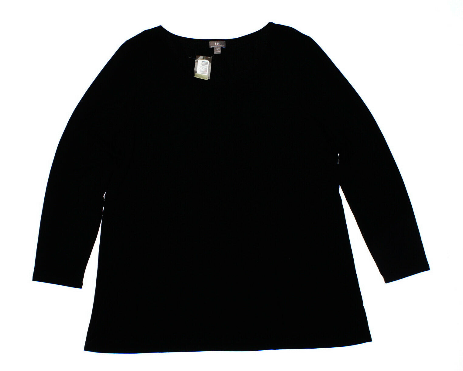NWT - J. JILL Woherren 'WEAREVER COLLECTION' schwarz L S STRETCH TOP  -  XL