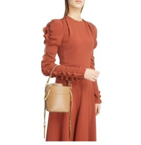 be64be8424bf8 Image is loading Roy-Small-Leather-Bucket-Bag-Camel-Nut