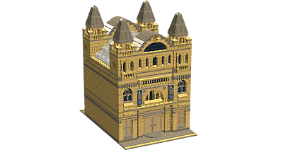 lego church  instructions PDF LDD and  Inventory List  1384   pieces