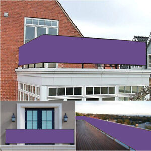 Privacy-Screen-Balcony-Sunshade-Oxford-Fabric-Garden-Multi-Sizes-amp-Colour-Purple