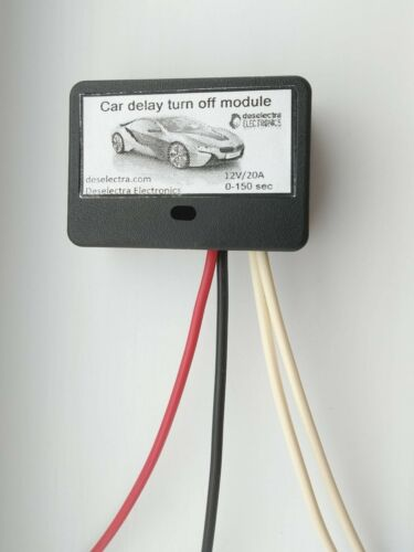 MINI CAR TIMER SWITCH TIME RELAY 0 TO 150 SEC KIT 12V//10A Delay OFF UNIVERSAL