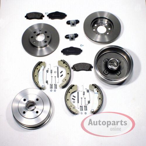 Bremsscheiben Bremsbeläge Bremstrommel Set vorne hinten Toyota Corolla E11