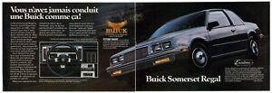 1985-BUICK-Somerset-Regal-Vintage-Original-2-page-Print-AD-Black-car-photo-CA-FR