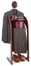 NEW Wooden Valet Stand for Clothes, Tray Organizer, Tie & Belt Hook, Shoe Rack
