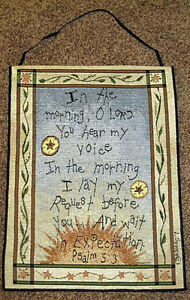 The-Morning-O-Lord-Inspirational-Tapestry-Bannerette-Wall-Hanging