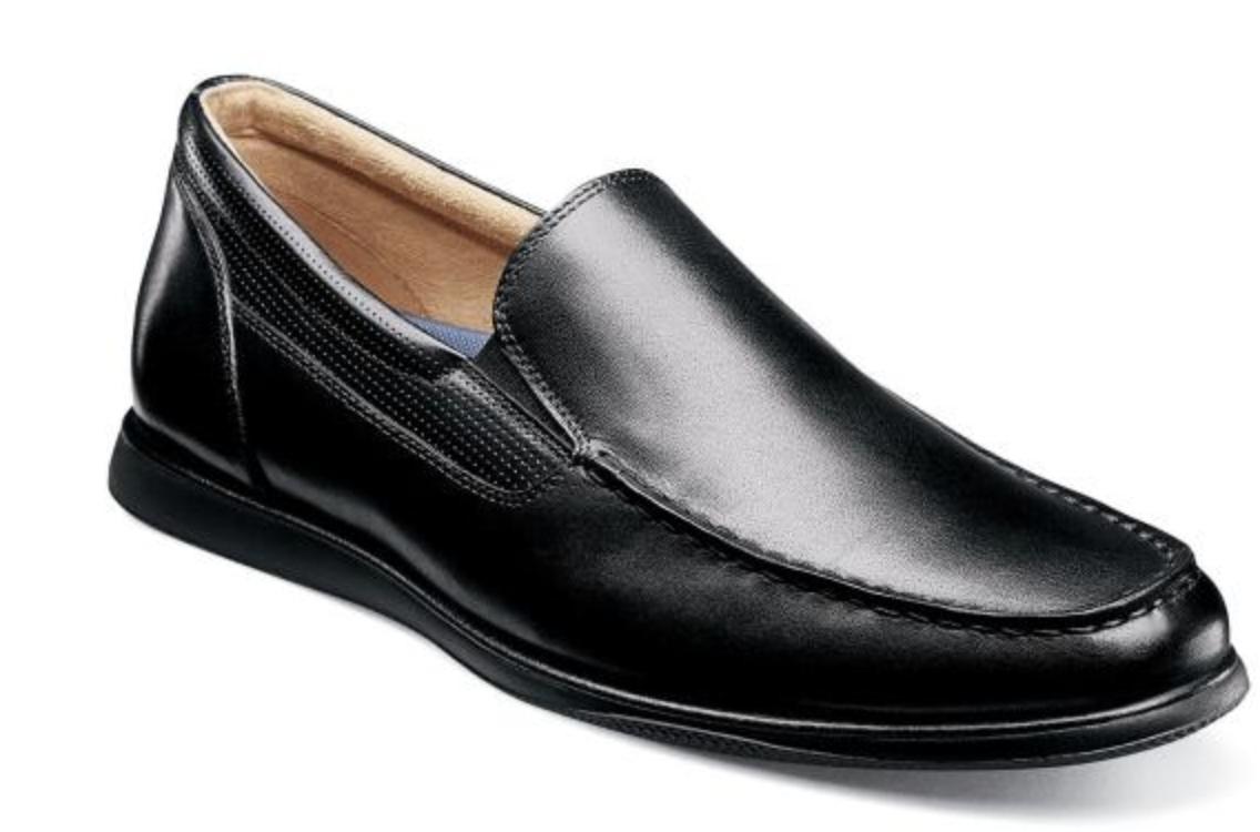 Florsheim Atlantic Moc Toe Vénicravaten Slip sur Chaussures Noir 13316-001