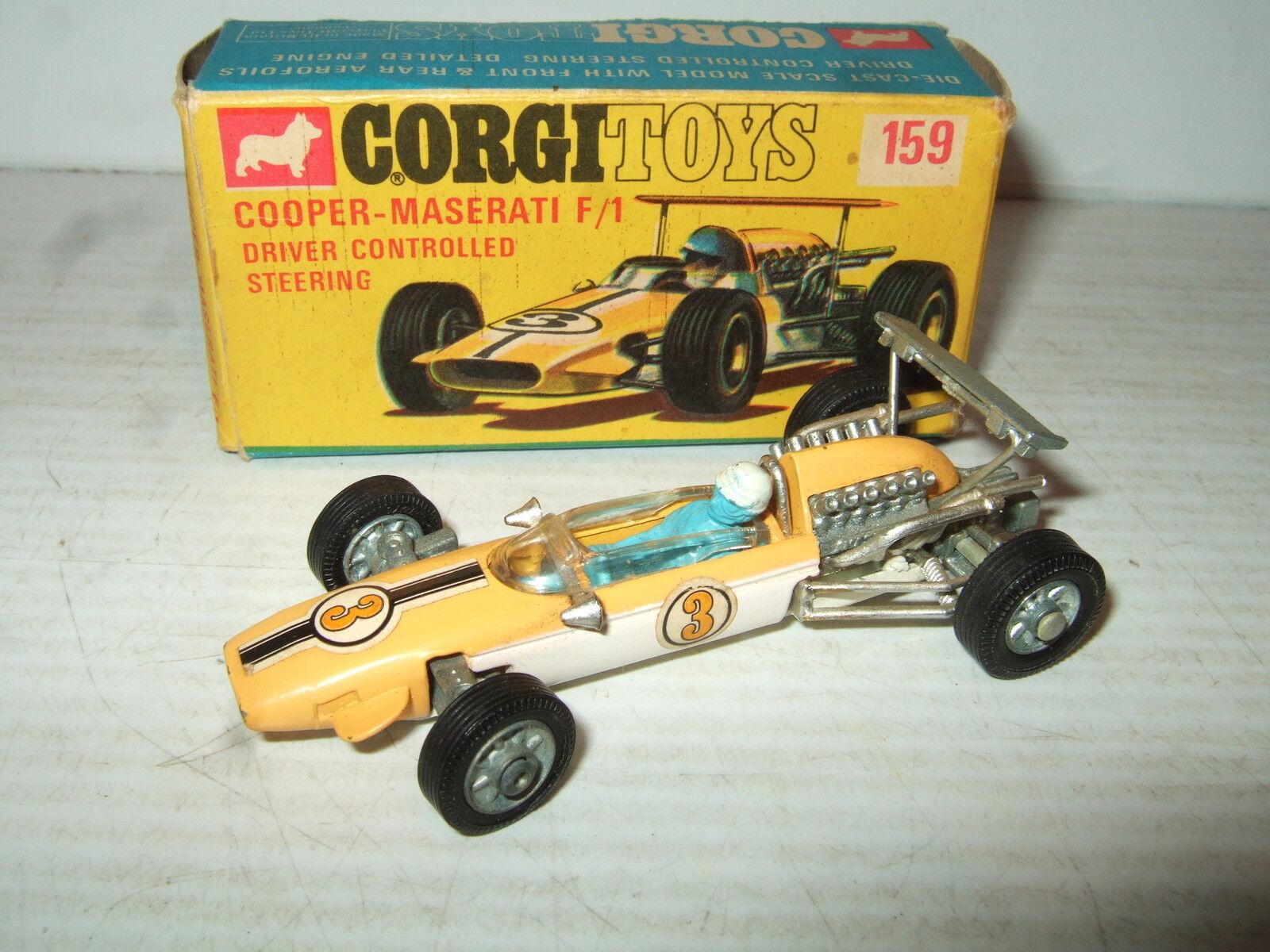 Rare Original Corgi 159 Cooper-Maserati F1 Model in Original Corgi Box .