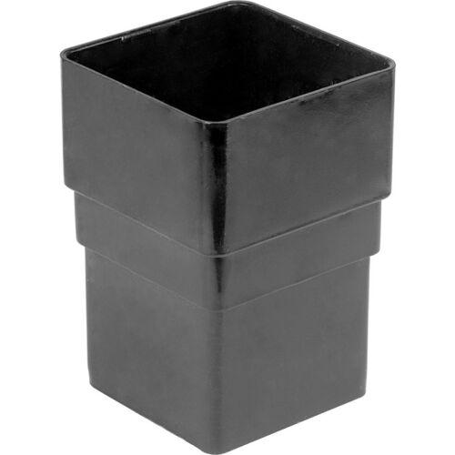 2 x nouveau socket tube carré noir DIY gouttière drainpipe