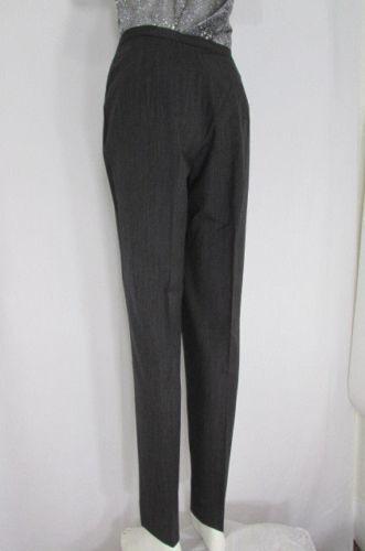 Piazza Sempione Damens Charcoal grau Fashion Pants Pin Stripe Wool Trousers 44/10