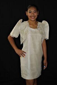 a717ffc67e0 Image is loading FILIPINIANA-BOLERO-Barong-Tagalog-Philippine-National- Costume-Beige