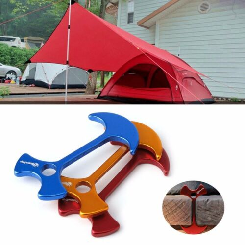 4 pcs Floor Nail Wedding Tent Peg Deck Camp Wind Rope Anchor Herringbone Nails