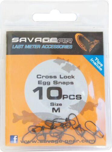 Savage Gear Egg Snap 10 Snaps für Kunstköder Einhänger zum Spinnfischen