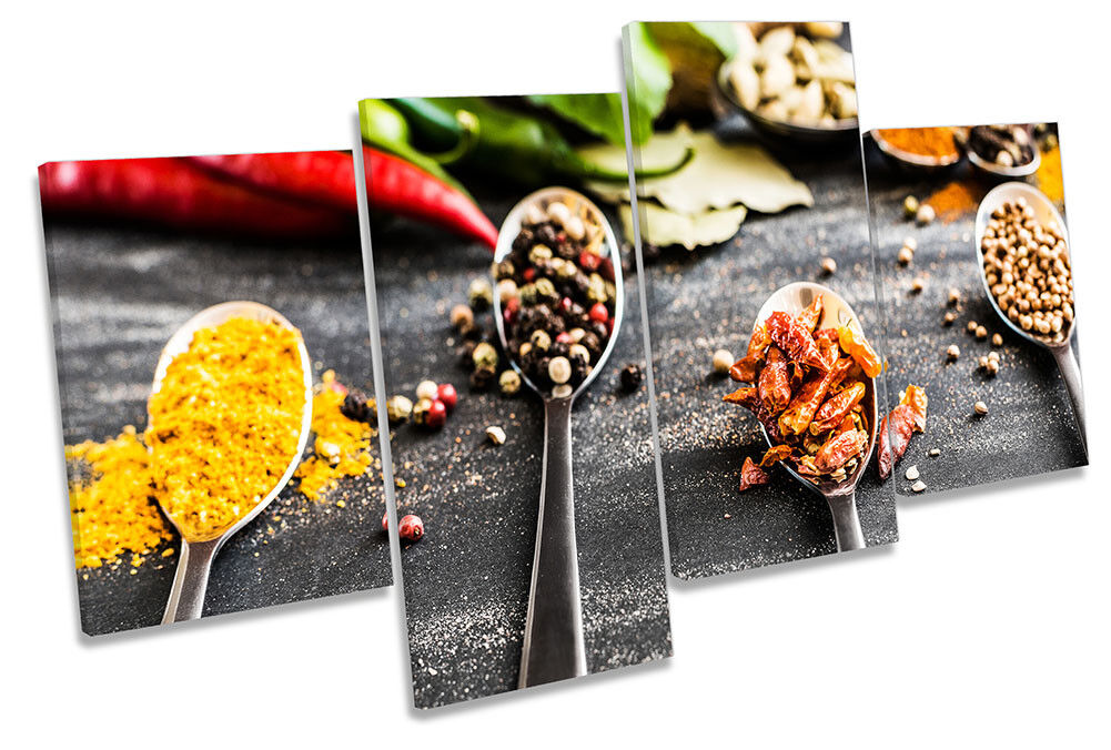Cooking Ingrotients Kitchen Picture MULTI CANVAS WALL ART Print