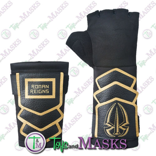 OFFICIAL REPLICA ROMAN REIGNS GLOVE /& WRIST BAND NEW WRESTLING MASK COSPLAY WWE