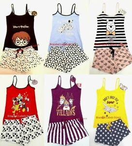 Senoras Pantalones Cortos De Caracteres Disney Para Mujeres Chicas Cami De Pantalones Cortos Primark S Xl Ebay