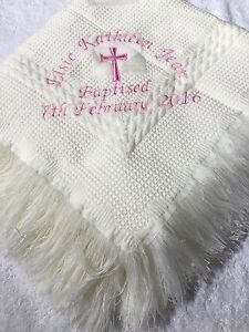 Personalised-embroidered-christening-shawl-white-cream-with-name-date-amp-cross