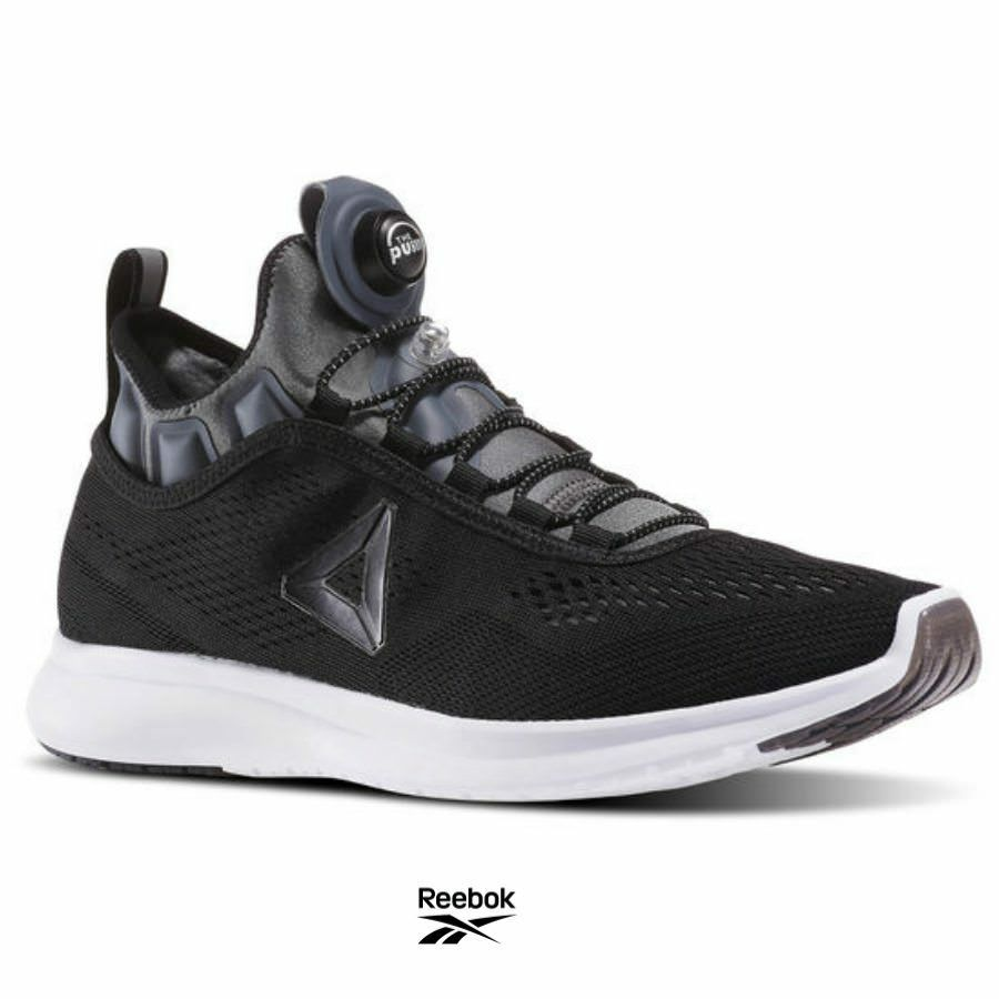 Reebok Pump Plus Casual Running Shoes Sneakers BD4866 Black Gray White SZ 4-12.5