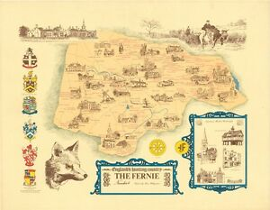 Map Of England Leicester.Details About Brain Hollingshead The Fernie Hunt Map Leicester England S Hunting Country Facsi