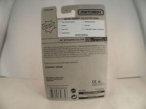 Matchbox Metro Rides n° 30 Mitsubishi Eclipse 1:64 en boite/inbox MIB
