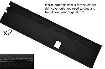 BLACK  STITCH 2X TOP DOOR CARD SKIN COVER FITS LANDROVER SERIES 2A 3 STYLE 2