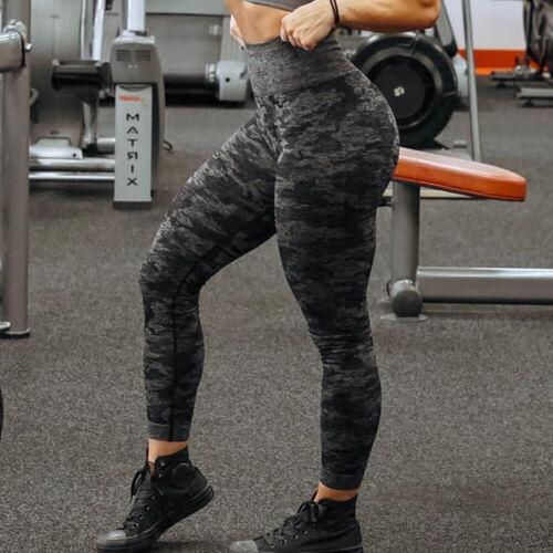 Women/'s Seamless Yoga Pants Sports Leggings Push Up Fitness Workout Trousers D60
