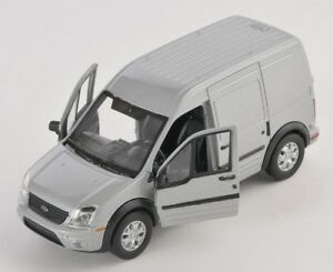 BLITZ-VERSAND-Ford-Transit-Connect-Transporter-silber-Welly-Modell-Auto-1-34-NEU