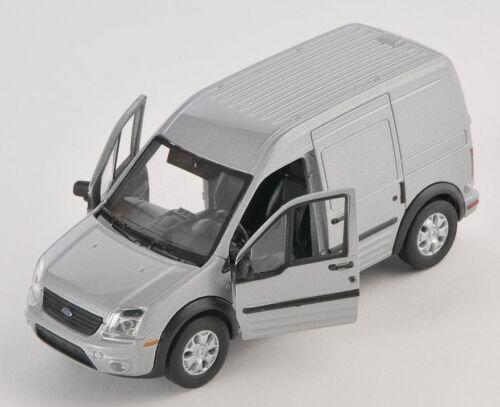 BLITZ VERSAND Ford Transit Connect Transporter silber Welly Modell Auto 1:34 NEU