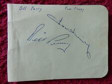 ENGLAND FOOTBALLERS TOM FINNEY / BILL PERRY AUTOGRAPHS