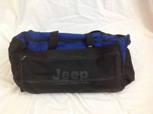 JEEP Authentic Sport Gear Large Roller Duffle Bag Black Jeep Travel ... a94a71a1b06d6