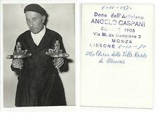 FOTO cartolina D' EPOCA artigiano angelo caspani monza lissone villa reale