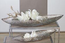 """Dekorative Schale """"Purley"""" geschwungen aus Metall antik-silber L.80/B21/H10 cm"""