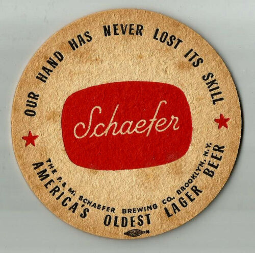 12 Schaefer Our Hand Has Never Lost Its Skill Beer Coasters