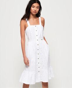 Superdry Womens Camille Button Schiffli Dress