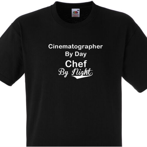 CINEMATOGRAPHER BY DAY CHEF BY NIGHT T SHIRT PERSONALISED COOKS TEE