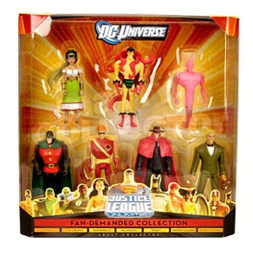 DC UNIVERSE Justice League Unlimited_Fan-Demanded Collection Box Set with 7 figs
