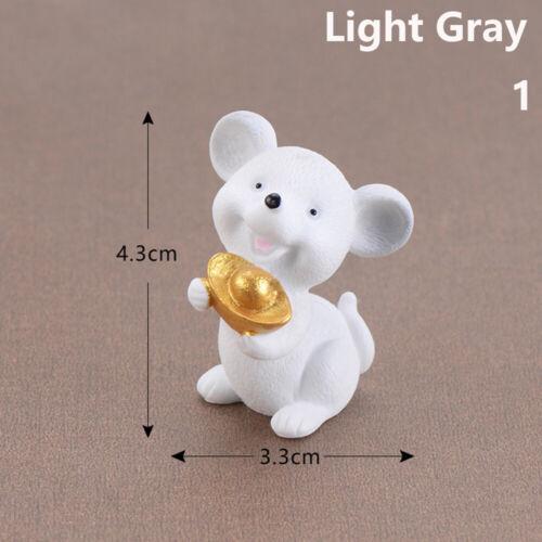 Money Mouse Figurine Miniature Mice Gold Bonsai Home Decor Cartoon Animal Model