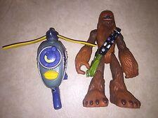 Star Wars Playskool Jedi Force  CHEWBACCA w/Wookie Scout Flyer 2004 (3)